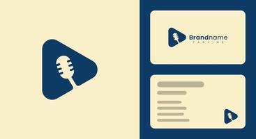 einfache und moderne Mikrofon-Visitenkartenvorlage