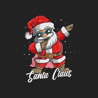 söt jultomten dabbing vektor