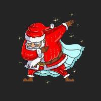 süßer Weihnachtsmann tupft vektor