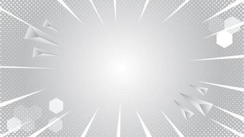 graues und weißes Burst-, Halbton- und geometrisches Formdesign