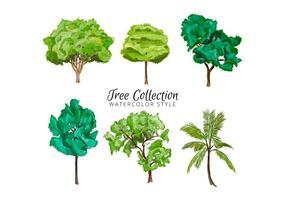 Aquarell-Baum-Sammlung