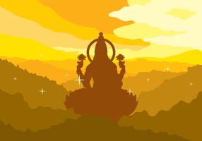 Lakshmi gratis Vector Illustration