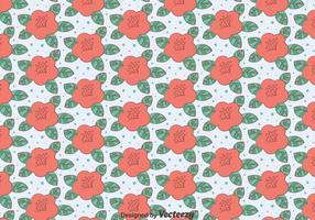 Rosa Kamelien-Blumen-Muster vektor