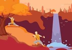 Free Practice Wushu Illustration