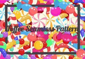 Toffee Seamless Background vektor