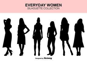 Vector Set Frauen Silhouetten