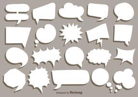 Vektor-Sammlung von weißen Sprechblasen vektor