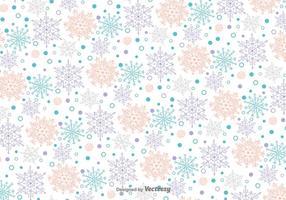 Schneeflocken Doodles Vektor-Muster vektor