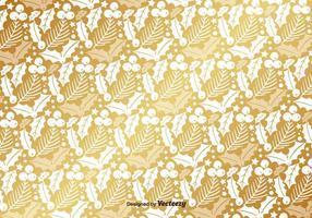 Golden Mistletoe vektor Mönster