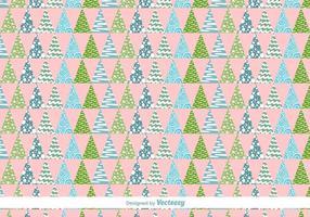 Geometrische Weihnachtsbäume Vektor-Muster