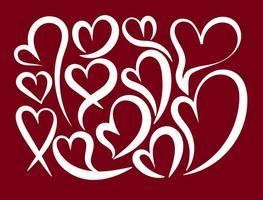 Vector abstrakt hjärta formar
