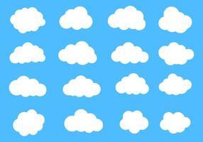 Freie vektorwolken gesetzt
