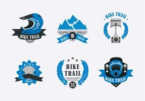 Bike Trail Label Illustration Vektor