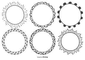 Dekorative Sketchy Vector Frames Sammlung
