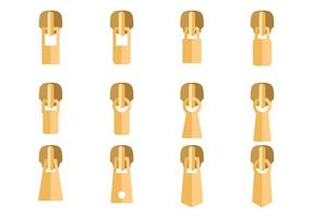 Gold-Zipper Pull Vektor