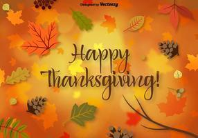 Vector Thanksgiving-Hintergrund