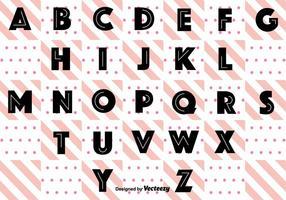 Svart Retro alfabetet vektor