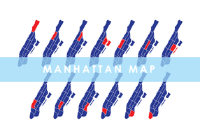 Manhattan Karte Vector