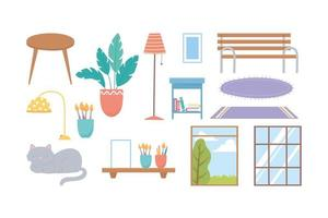 Home und Dekor Icon Set