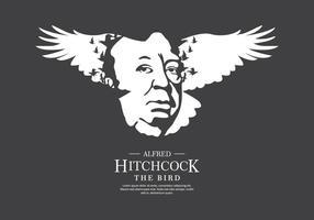 Hitchcock Bird Bakgrund vektor