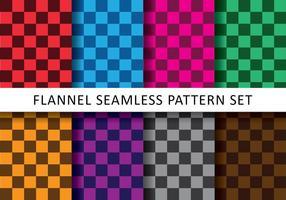 Bunte Checkered Flanell Vektoren
