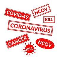 Coronavirus Stempel oder Siegel
