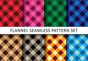 Färgrik flanell Pack vektor