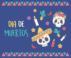 dagen för den döda firandet med sockerskallar
