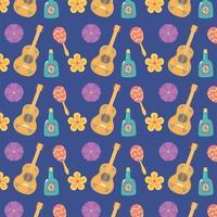 söt mönster bakgrund för mexikansk fest vektor