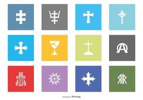 Religiöses Symbol Icon Collection vektor