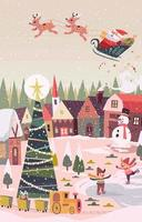 Weihnachtswinter im Wunderland vektor