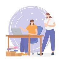 Coworking-Konzept mit Frauen, die zusammenarbeiten