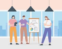 Coworking-Konzept mit Personen in einer Besprechungspräsentation