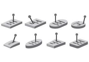 Set-Gangschaltung-Icons vektor