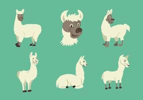 Lustiges Lama Zeichen Vektor-Illustration