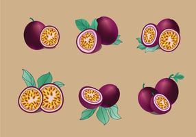 Passionsfrukt vektor pack