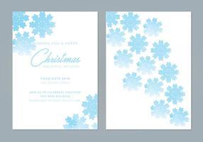 Snowflake Vector Winter Grußkarten