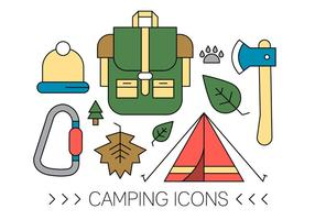 Gratis Camping Icons vektor