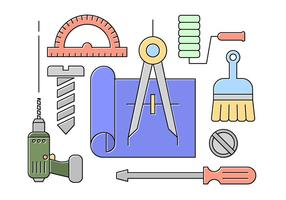 Free Kollektion mit Werkzeugen