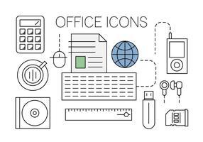 Kostenlose Office-Symbole vektor