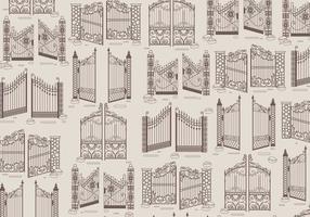 Open Gate Klassische Vektor