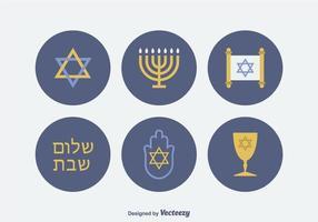 Jüdischem Vektor-Icons