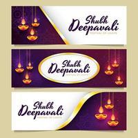 deepavali festival av ljus banner
