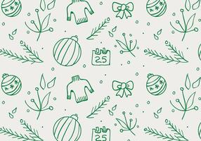 Free Christmas Hand gezeichnete Muster-Hintergrund