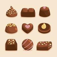 köstliche Schokoladensammlung vektor