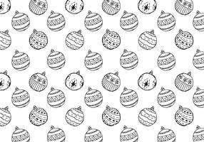 Free Christmas Hand Drawn mönster bakgrund vektor