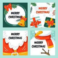 niedliche und lustige Weihnachtskartenschablone