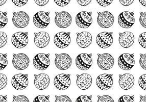Free Christmas Hand gezeichnete Muster-Hintergrund vektor