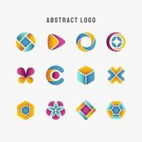 verschiedene blaue blaugrün gelbe lila abstrakte Logo
