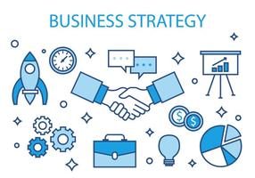 Free Business Strategy Vector Illustration